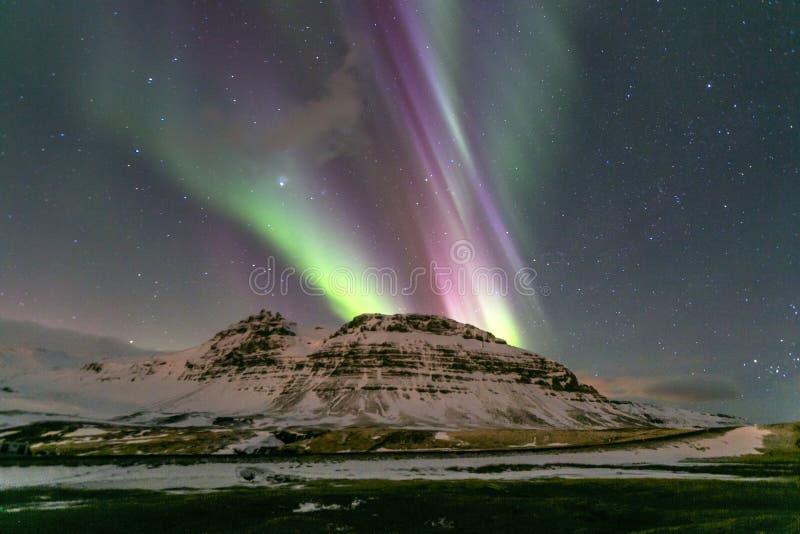 Βόρεια ελαφριά borealis αυγής στοκ εικόνες με δικαίωμα ελεύθερης χρήσης