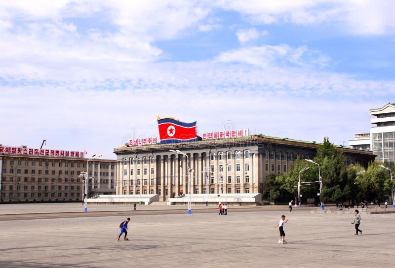 ΒΌΡΕΙΑ ΚΟΡΈΑ, PYONGYANG - 26 ΣΕΠΤΕΜΒΡΊΟΥ 2017: Πλατεία του Kim Il Sung στοκ εικόνες