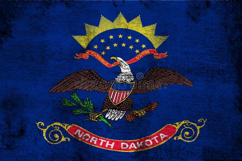 Βόρεια Ντακότα σκουριασμένη και grunge απεικόνιση σημαιών απεικόνιση αποθεμάτων