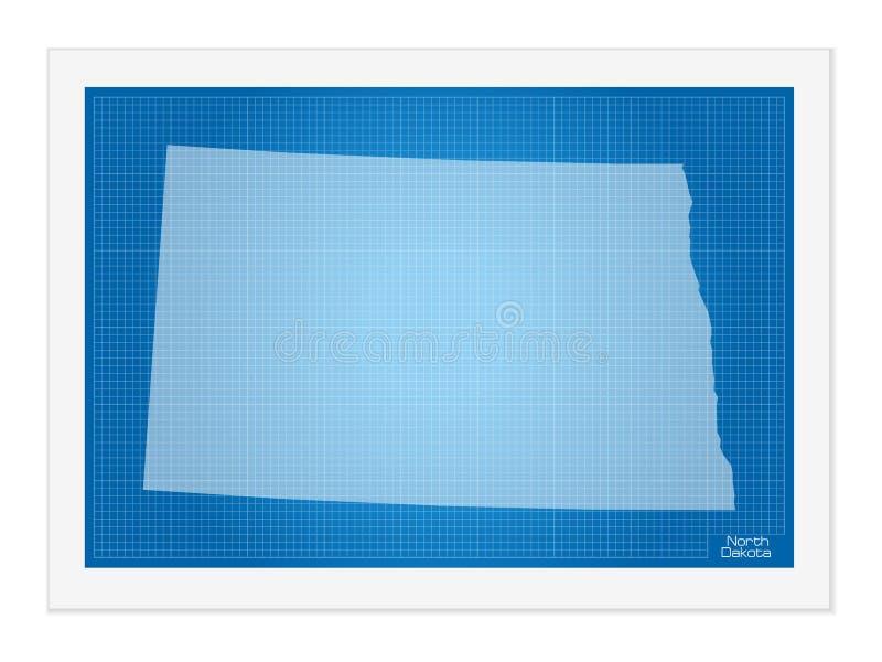 Βόρεια Ντακότα στο σχεδιάγραμμα απεικόνιση αποθεμάτων