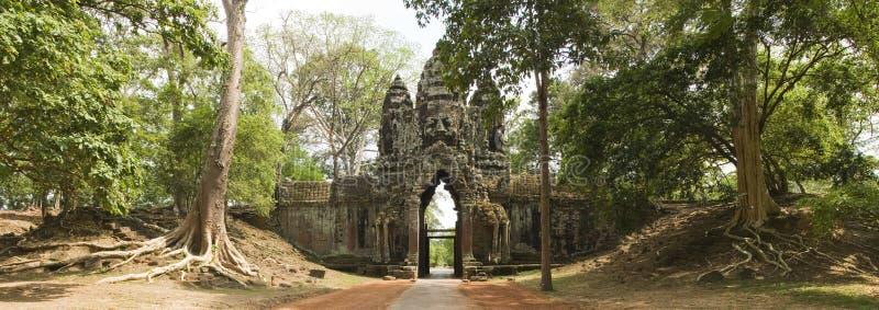 Βόρεια πύλη Angkor Thom, Angkor Wat, Καμπότζη στοκ φωτογραφίες
