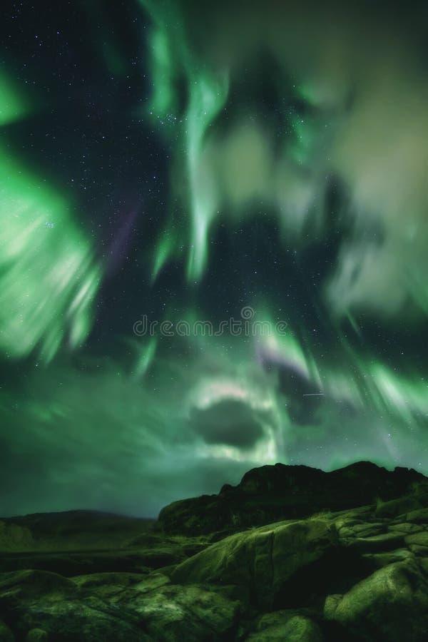 Βόρεια φώτα, Aurora Borealis στη χερσόνησο Κόλα στοκ εικόνες