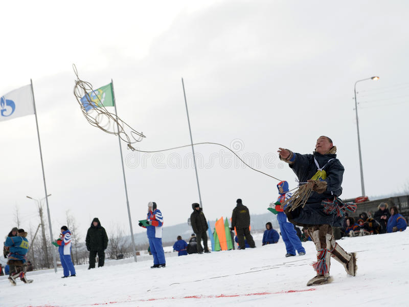Βόρεια aboriginals Ολυμπιακών Αγώνων Ρωσία Yamal Nadym στοκ εικόνες