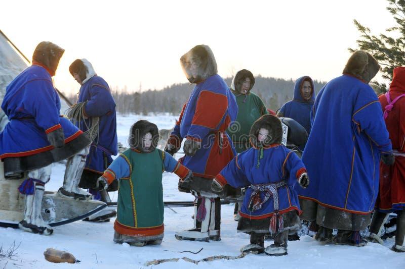 Βόρεια aboriginals Ολυμπιακών Αγώνων Ρωσία Yamal Nadym στοκ φωτογραφίες