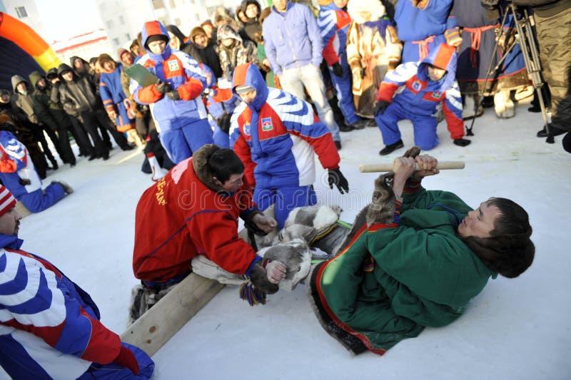 Βόρεια aboriginals Ολυμπιακών Αγώνων Ρωσία Yamal Nadym στοκ φωτογραφία