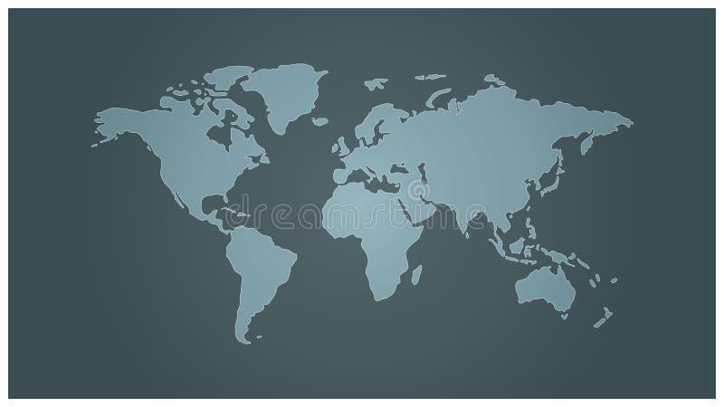 βόρειος απλός κόσμος χαρτών ημισφαιρίου εστίασης στοκ φωτογραφία με δικαίωμα ελεύθερης χρήσης