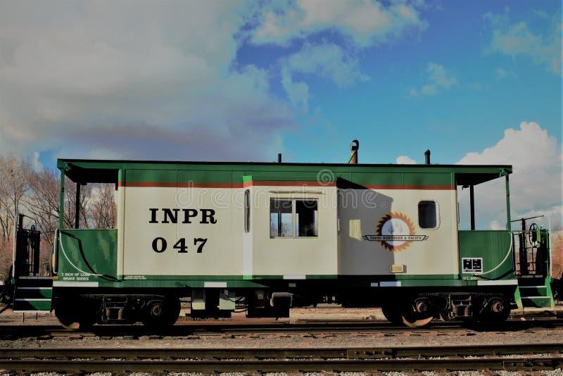 Βόρειος & ειρηνικός σιδηρόδρομος του Αϊντάχο caboose στοκ εικόνα με δικαίωμα ελεύθερης χρήσης
