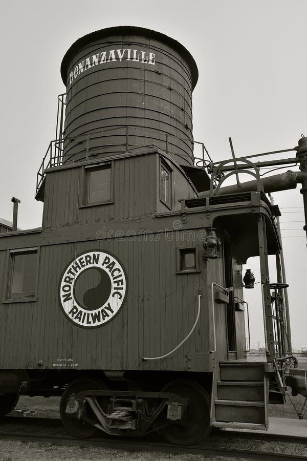 Βόρειος ειρηνικός σιδηρόδρομος caboose σε Bonanzaville στοκ εικόνες