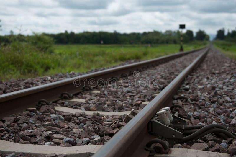 Βόρειος σιδηρόδρομος της Ταϊλάνδης κινηματογραφήσεων σε πρώτο πλάνο στοκ φωτογραφίες
