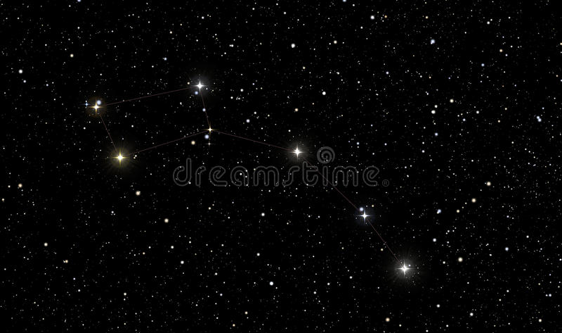 Βόρειο αστέρι στον αστερισμό του ανηλίκου Ursa ελεύθερη απεικόνιση δικαιώματος