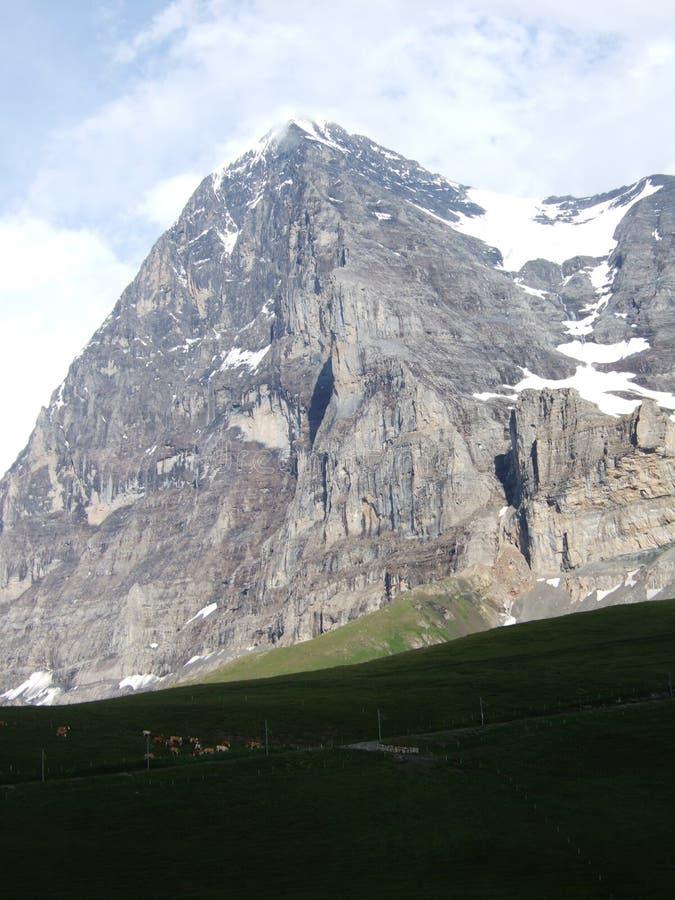 Βόρειο πρόσωπο του Eiger στον ήλιο στοκ φωτογραφία
