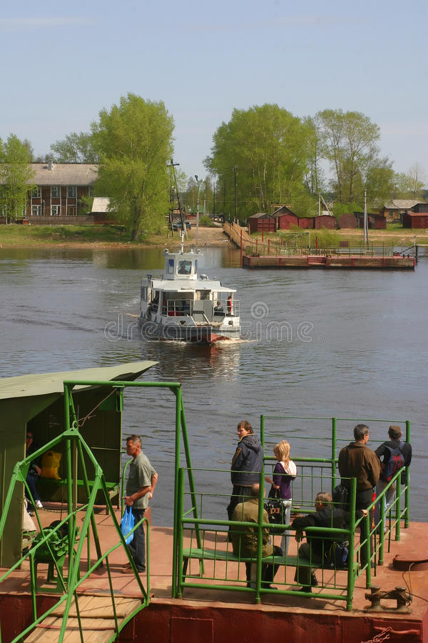 Βόρειο ρωσικό ferriage στοκ φωτογραφία