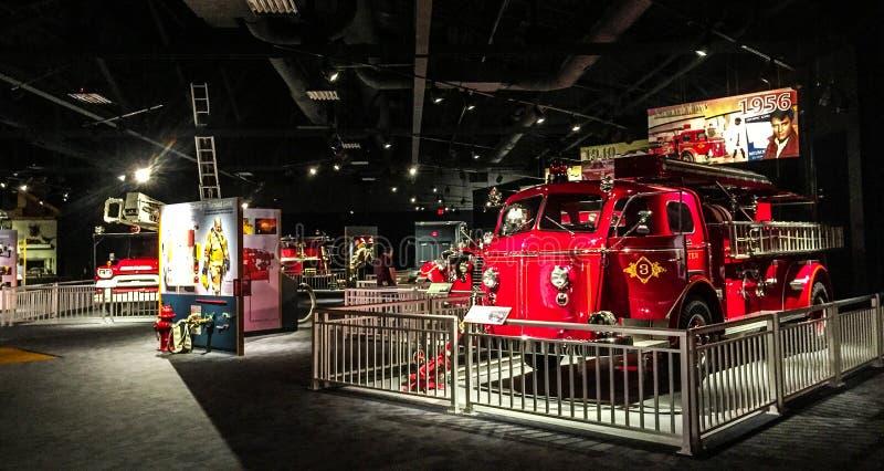 Βόρειο Τσάρλεστον και αμερικανικά μουσείο πυρκαγιάς LaFrance και κέντρο εκπαίδευσης στοκ εικόνες