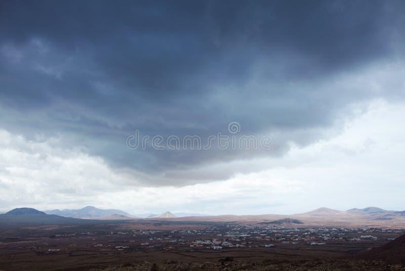 Βόρειο Fuerteventura, συννεφιάζω ημέρα στοκ εικόνα με δικαίωμα ελεύθερης χρήσης