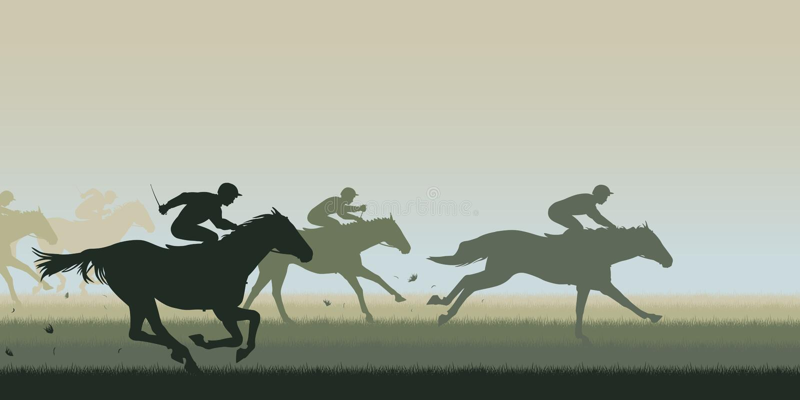 βόρειο pyatigorsk αλόγων ιπποδρόμων Καύκασου που συναγωνίζεται τη Ρωσία διανυσματική απεικόνιση