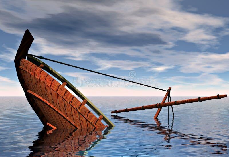 βύθιση σκαφών ελεύθερη απεικόνιση δικαιώματος