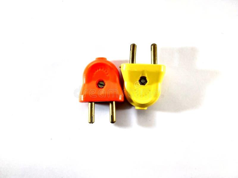 Βύσμα δύο ακίδων Ηλεκτρισμός Ηλεκτρικό βύσμα στοκ φωτογραφία