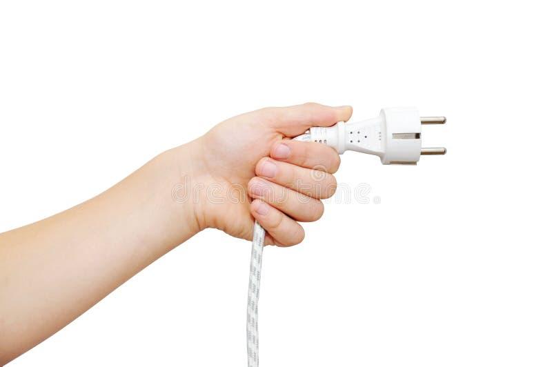 Download βύσμα εκμετάλλευσης χεριών ηλεκτρικής ενέργειας Στοκ Εικόνες - εικόνα από ενέργεια, σπίτι: 22790118