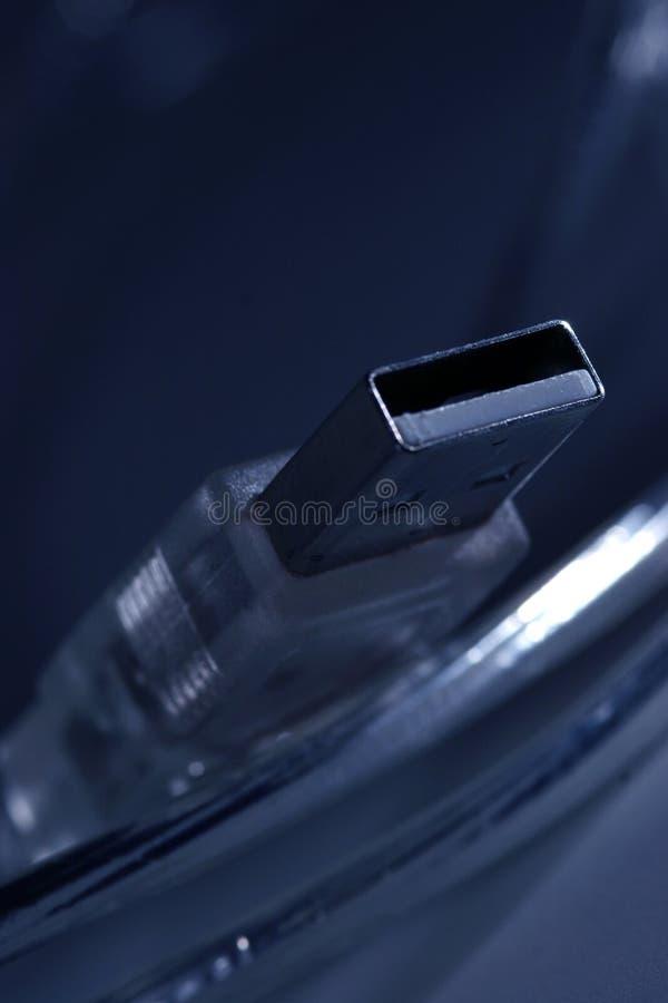 βύσμα σκοινιού usb στοκ εικόνες