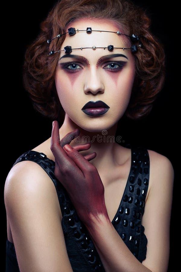 Βλαστός στούντιο ομορφιάς makeup στοκ φωτογραφία με δικαίωμα ελεύθερης χρήσης