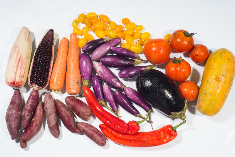 Β -胡萝卜素菜集合 库存图片