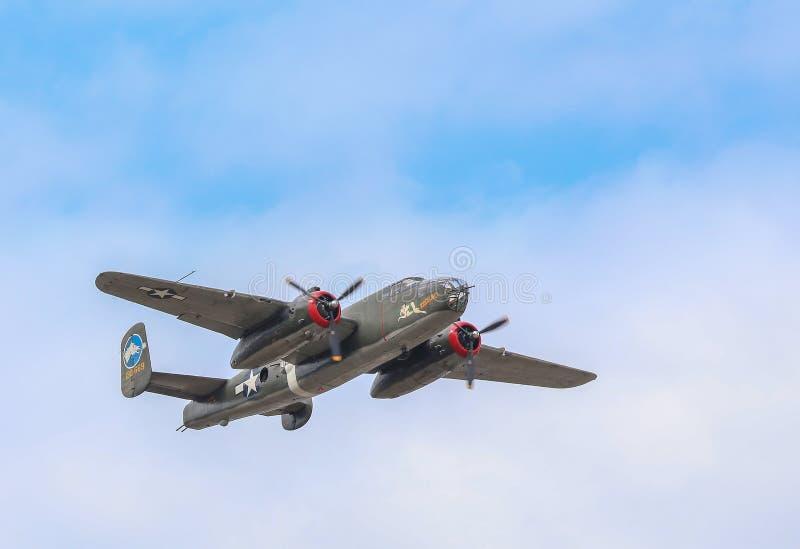 Β-25J βομβαρδιστικό αεροπλάνο του Mitchell στοκ εικόνες