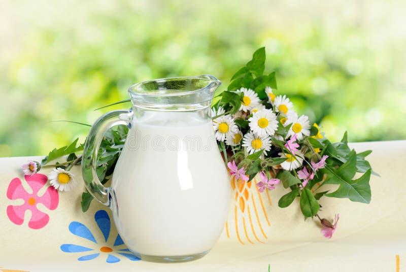 γάλα κανατών στοκ εικόνα με δικαίωμα ελεύθερης χρήσης