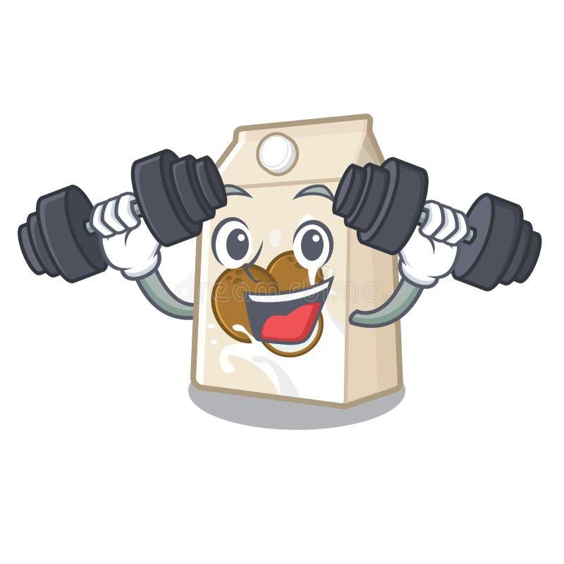 Γάλα καρύδων ικανότητας σε ένα μπουκάλι κινούμενων σχεδίων διανυσματική απεικόνιση
