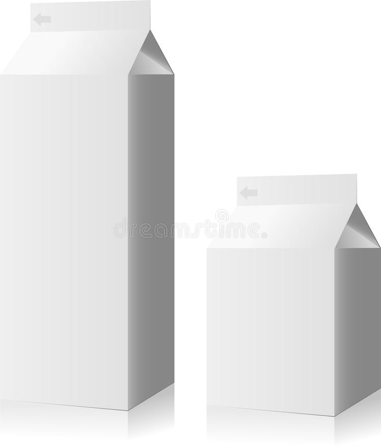 γάλα κιβωτίων διανυσματική απεικόνιση