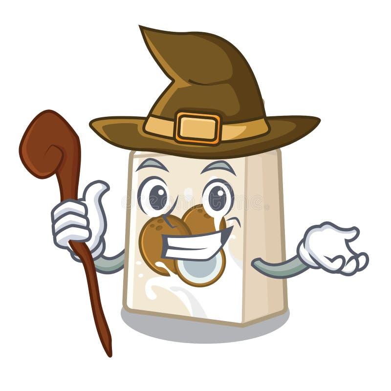 Γάλα μαγισσών cococnut στη μορφή μασκότ απεικόνιση αποθεμάτων