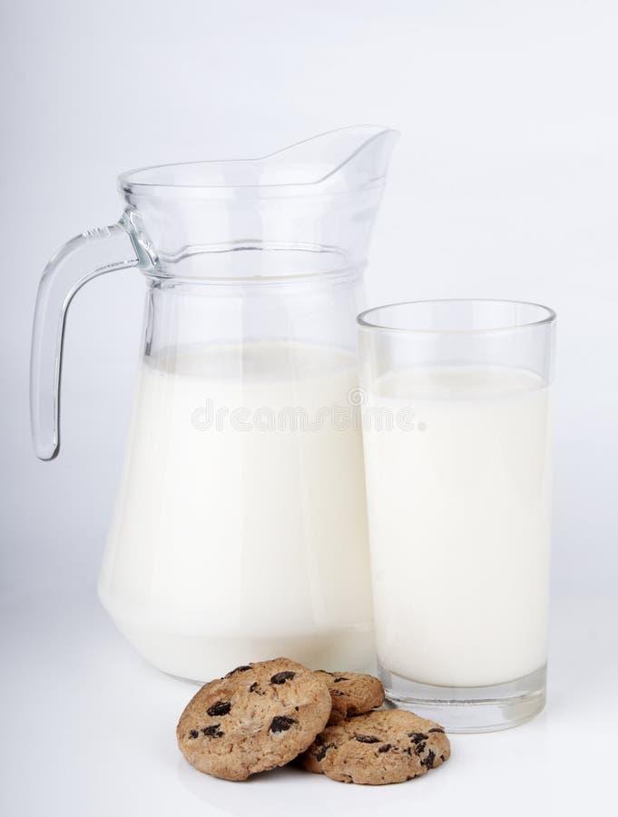 γάλα μπισκότων στοκ εικόνες