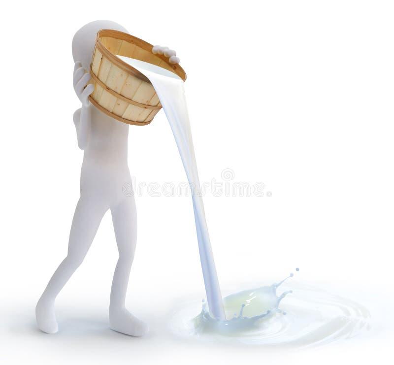 γάλα διανυσματική απεικόνιση