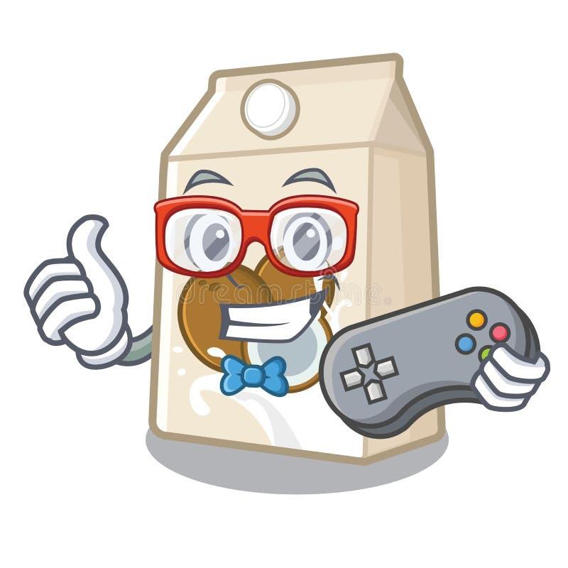 Γάλα Gamer cococnut στη μορφή μασκότ ελεύθερη απεικόνιση δικαιώματος