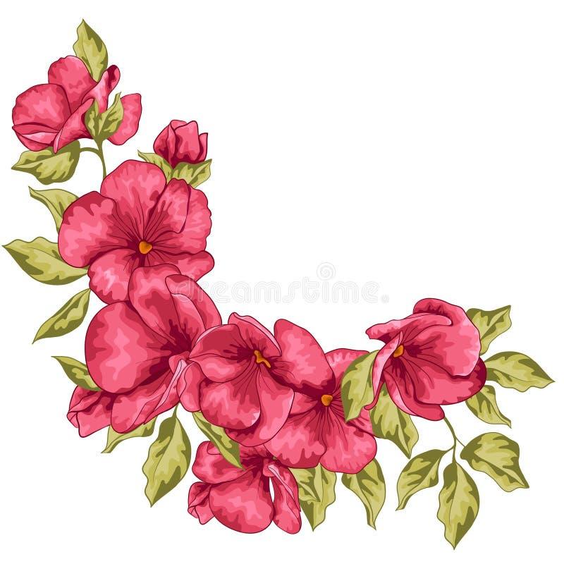γάμος απεικόνισης καρτών αφαίρεσης Λουλούδια Sakura επίσης corel σύρετε το διάνυσμα απεικόνισης διανυσματική απεικόνιση