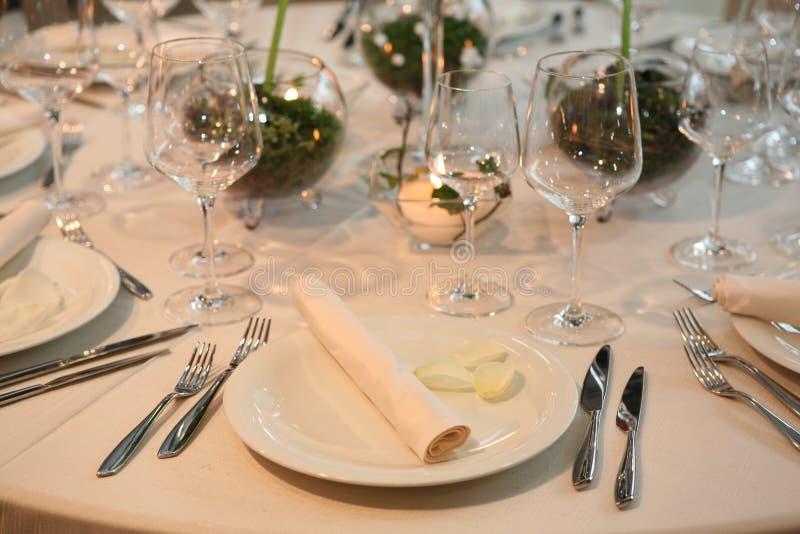 γάμος γευμάτων στοκ εικόνες