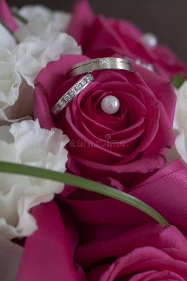 Γάμος δαχτυλιδιών συμμαχίας στοκ εικόνες με δικαίωμα ελεύθερης χρήσης