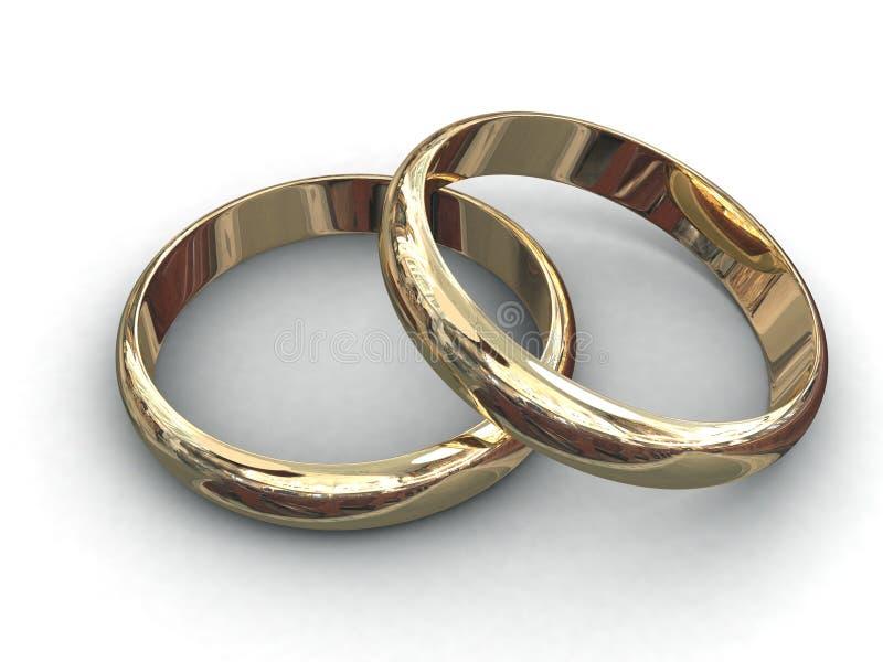 γάμος δαχτυλιδιών διανυσματική απεικόνιση