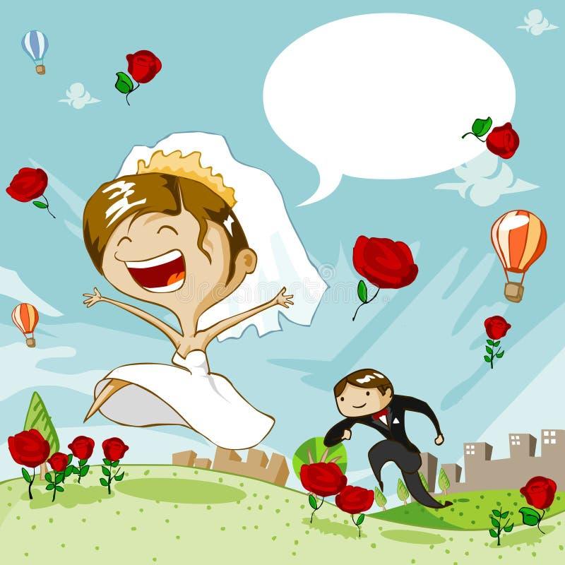 γάμος ημέρας διανυσματική απεικόνιση