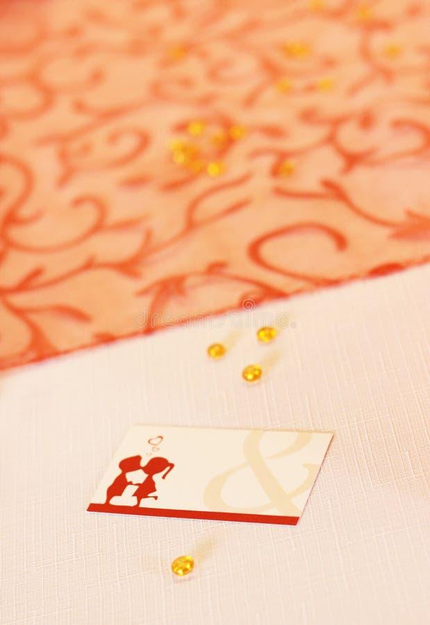 γάμος θέσεων καρτών στοκ εικόνα