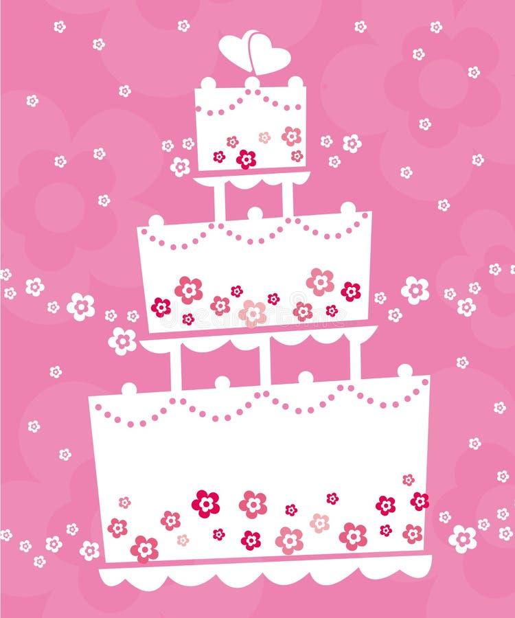 γάμος κέικ απεικόνιση αποθεμάτων