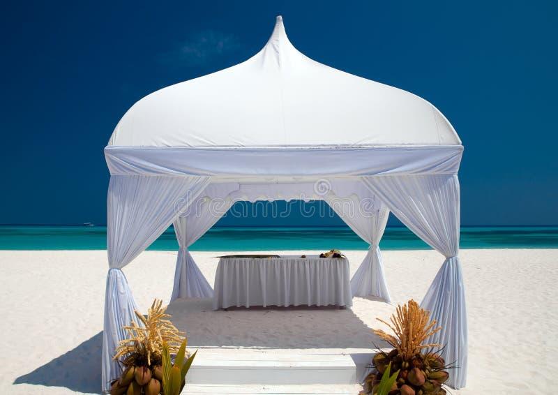 γάμος καλυβών παραλιών στοκ φωτογραφίες με δικαίωμα ελεύθερης χρήσης