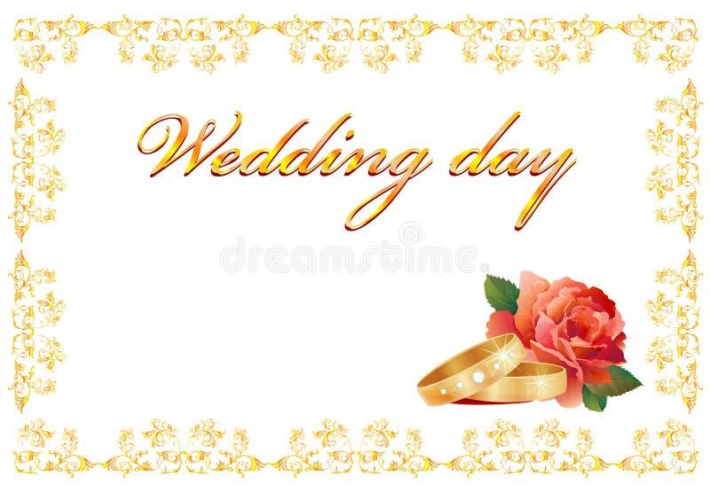 γάμος καρτών απεικόνιση αποθεμάτων