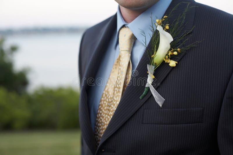 γάμος μπουτονιερών στοκ εικόνα με δικαίωμα ελεύθερης χρήσης