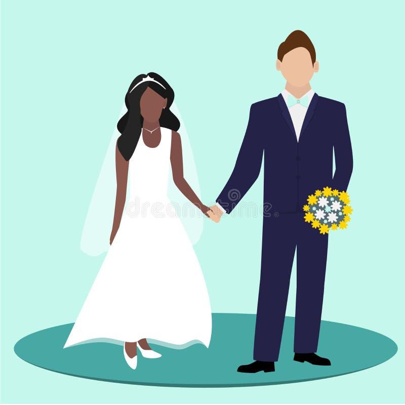 γάμος νεόνυμφων ημέρας νυφώ&n επίσης corel σύρετε το διάνυσμα απεικόνισης απεικόνιση αποθεμάτων