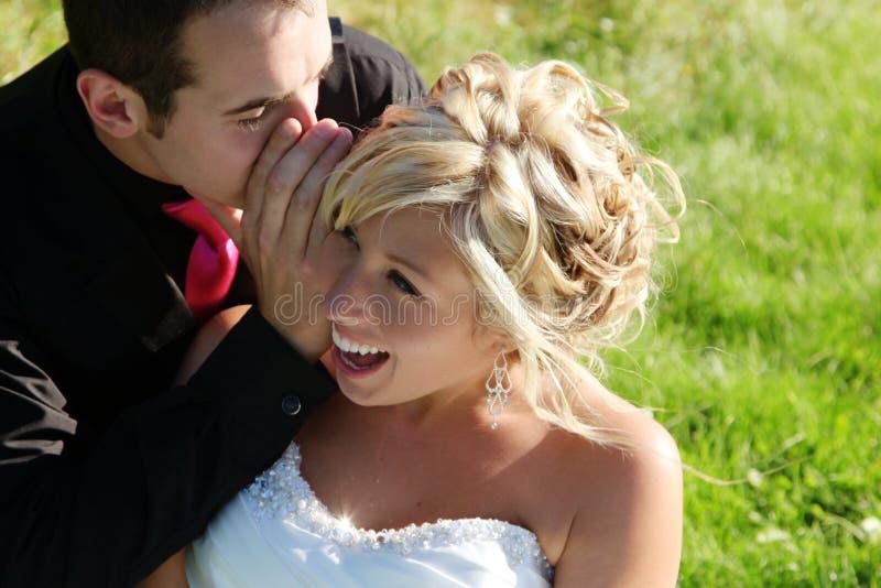 Γάμος - νύφη και νεόνυμφος στοκ εικόνες με δικαίωμα ελεύθερης χρήσης