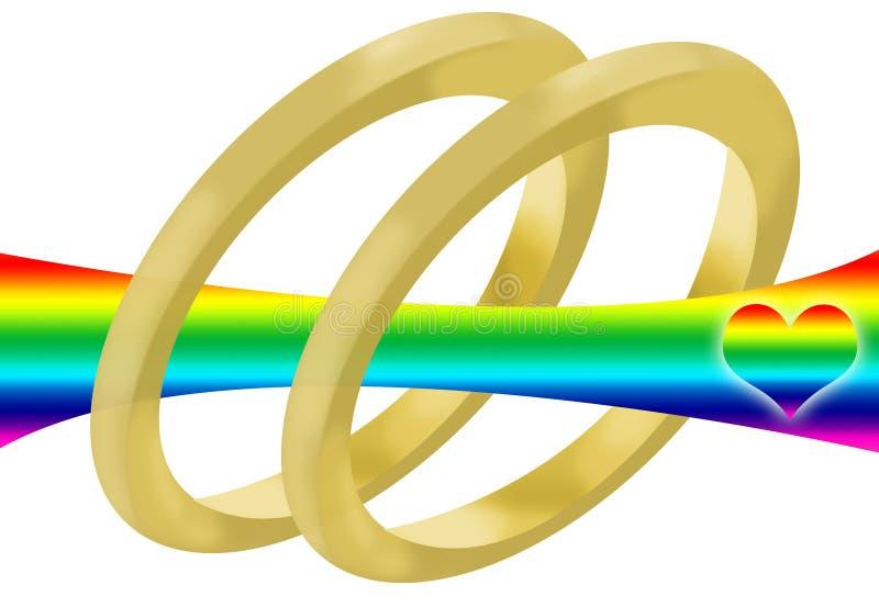 γάμος ομοφυλοφίλων απεικόνιση αποθεμάτων