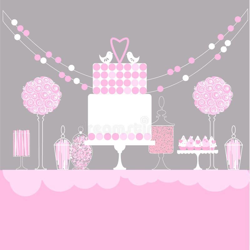 γάμος 8 πιτών γλυκός πίνακας επίσης corel σύρετε το διάνυσμα απεικόνισης ελεύθερη απεικόνιση δικαιώματος
