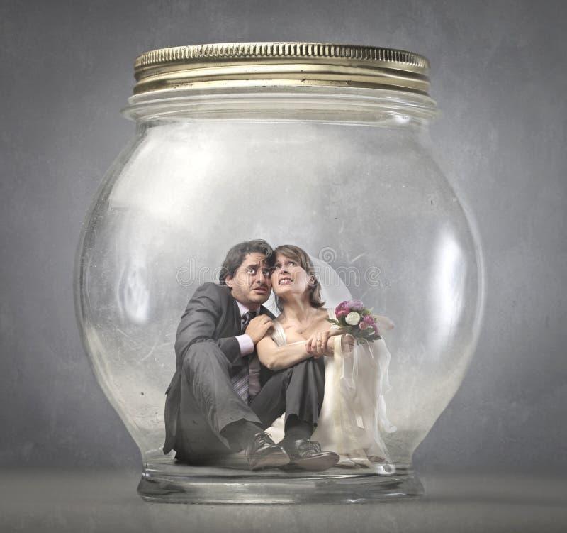 γάμος που παγιδεύεται στοκ φωτογραφία