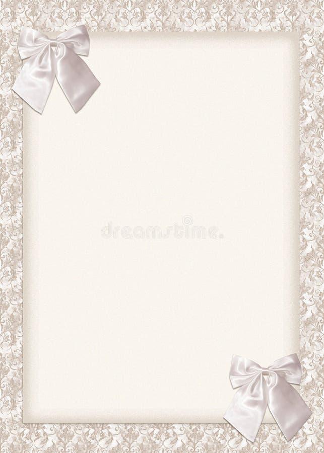 γάμος πρόσκλησης καρτών τόξ&o διανυσματική απεικόνιση