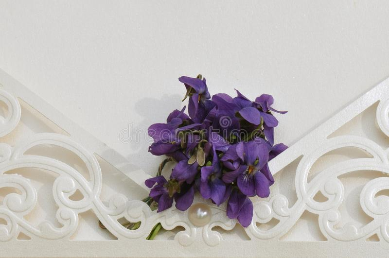 γάμος πρόσκλησης λουλ&omicron στοκ εικόνες με δικαίωμα ελεύθερης χρήσης